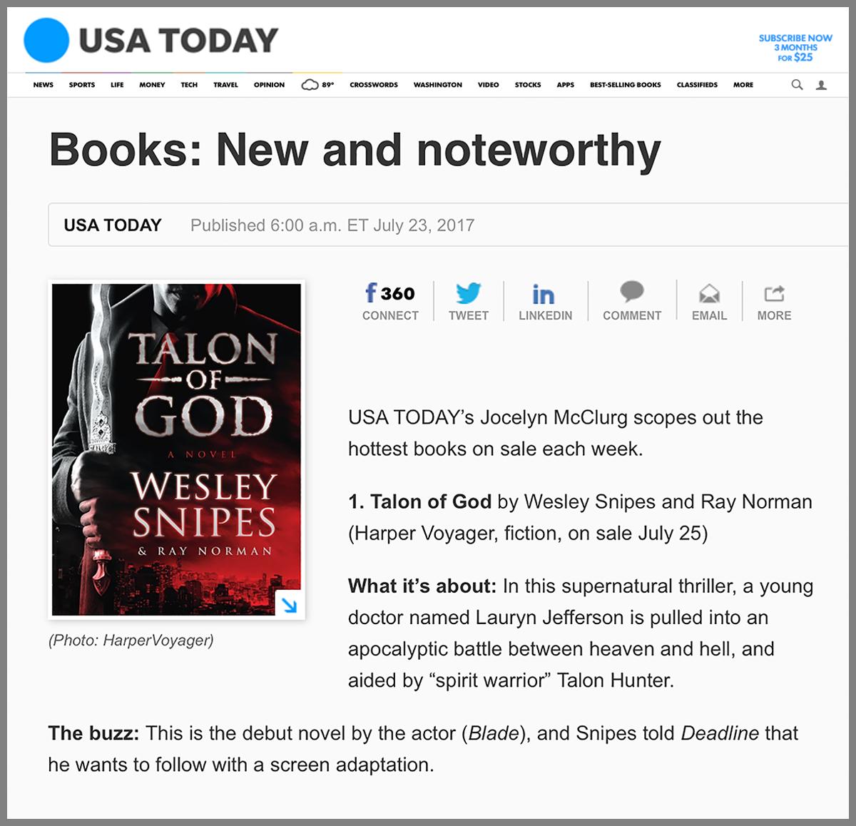 talon of god  u2013 a novel
